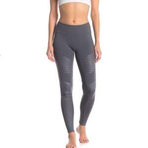 Alo yoga gray mid rise moto leggings